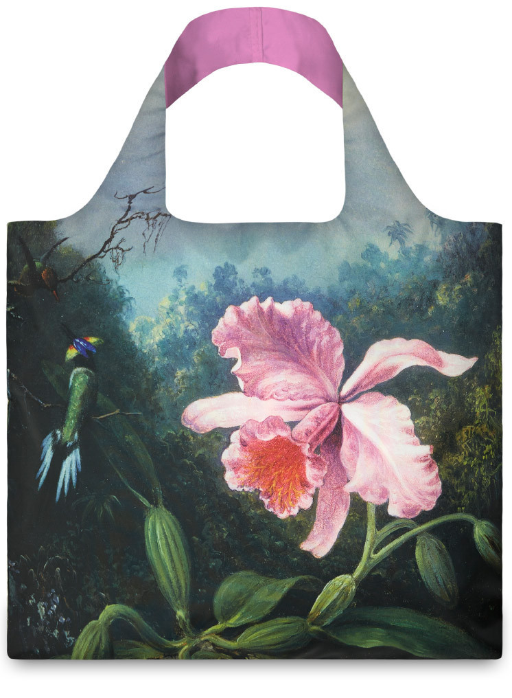 LOQI Martin Johnson Still Life With Orchid and Pair Of Hummingbirds Shopper